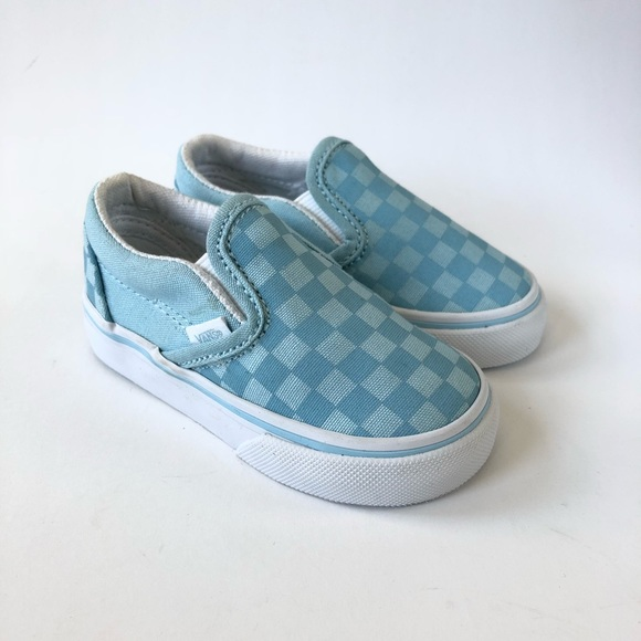 0efd8dfd130 Vans Slip-on Baby Blue Checkerboard Canvas. M 5b8488c674359ba697df09be